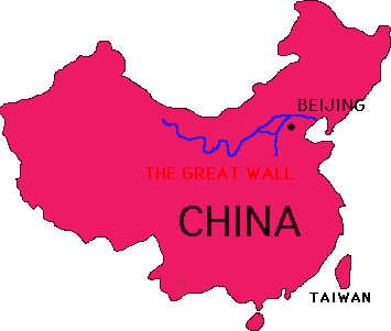 Images and Places Pictures and Info great wall of china map view